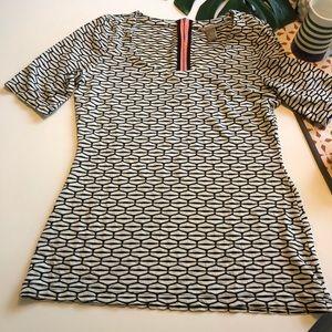 Banana Republic shirt with salmon back zipper - S